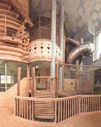 Der neue Spielturm auf 3 Ebenen