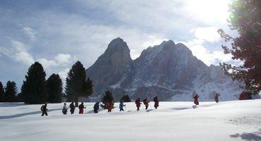 Settimane delle escursioni con le ciaspole