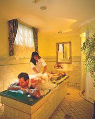 Massage à la brosse et au savon
