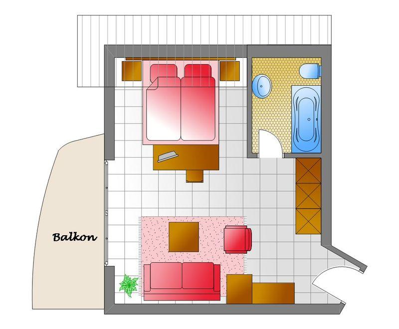 Zum Kurfürsten - Doppelzimmer Villa BelVital mit Balkon