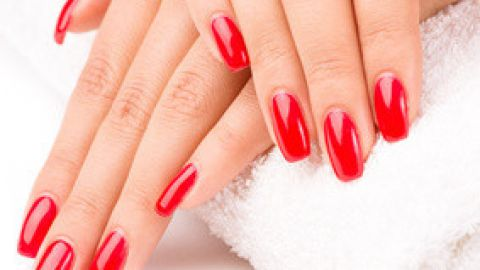 Nail polish as addition to treatment