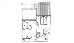 Appartement avec terrasse de toit