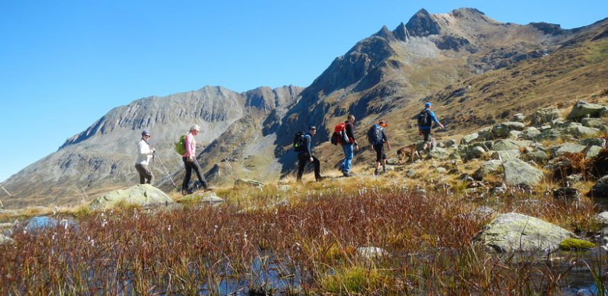 Colourful Zillertal valley - hiking in autumn