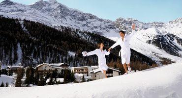 Winterspaß und Schneegestöber