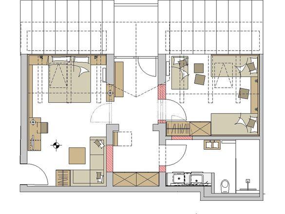 "Family-Suite Schreinerhof ""Top D"" Grundriss #1"